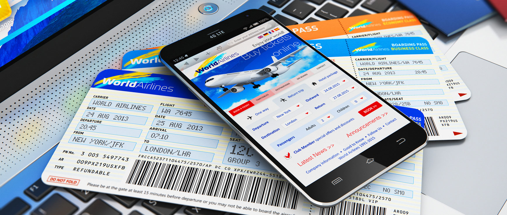 flight information on digital devices